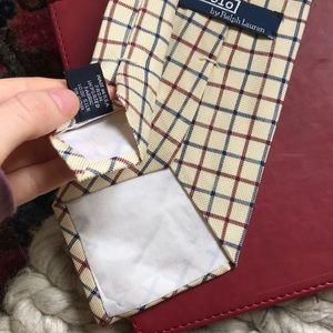 Polo by Ralph Lauren Accessories - Polo Ralph Lauren Plaid Silk Tie Red Blue Stripe